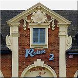 SO9596 : Former Drill Hall (detail) in Bilston, Wolverhampton by Roger  Kidd