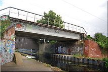 TM1444 : Railway Bridge over the River Gipping by N Chadwick