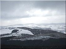 SJ1662 : View south, along Clwydian Range, from Moel Famau by Bryan Pready