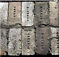 NZ1762 : Detail of former reservoir wall, Blaydon Burn by Andrew Curtis