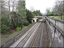 ST7565 : Railway line through Sydney Gardens, Bath by Gareth James