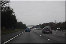SU6350 : Approaching Pendsell Farm Bridge, M3 by N Chadwick