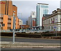 ST1875 : Cardiff skyline, Custom House Street by Jaggery