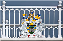 TQ2652 : Reigate and Banstead Borough Council Coat of Arms, Reigate Hill Footbridge by Ian Capper
