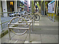 TQ3780 : Cycle parking for the DLR by Stephen Craven