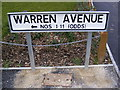 TM3863 : Warren Avenue 1-11 sign by Adrian Cable