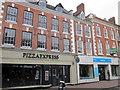 SO9570 : Bromsgrove High Street  Pizza Express & YMCA Shop by Roy Hughes