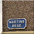 C8532 : Martins Brae sign, Coleraine by Albert Bridge