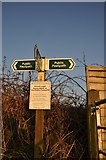 ST0215 : Whitnage : Public Footpath Sign by Lewis Clarke