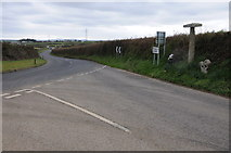 SX0777 : Road junction near Michaelstow by Philip Halling