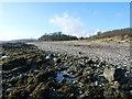 NS1267 : Shingle shore near Toward Castle by Alan Reid