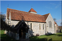 TR0650 : Church of St Lawrence the Martyr, Godmersham by Julian P Guffogg