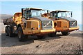 TV5197 : Volvo trucks at Cuckmere Haven beach by Oast House Archive