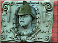 SP0384 : Detail on front of former fire station, Rose Road, Harborne by Phil Champion