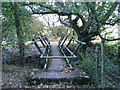 SP1365 : Footbridge southwest of Hunger Hill by Robin Stott