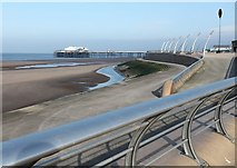 SD3035 : Blackpool promenade and beach by Andrew Whale