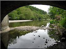 NY4724 : River Eamont at Pooley Bridge by Philip Jeffrey