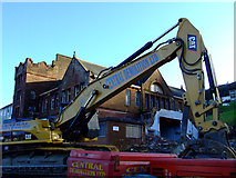NS3174 : Highholm School demolition by Thomas Nugent