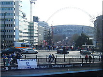 TQ1986 : Bridge Road with Wembley Stadium beyond by Colin Pyle