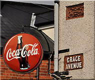 J3673 : Grace Avenue sign, Belfast by Albert Bridge