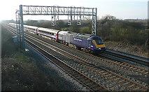 SU3890 : Railway from Denchworth Road Bridge by Graham Horn
