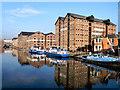 SO8218 : Gloucester Docks, Main Basin by David Dixon
