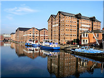 SO8218 : Gloucester Docks, Main Basin by David Dixon