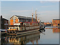 SO8218 : Oliver Cromwell Paddle Wheeler in Gloucester Docks by David Dixon