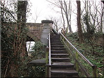 SE4843 : The steps to the disused railway line by Ian S