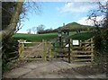 ST5038 : The gate to the path up to Glastonbury Tor by Humphrey Bolton