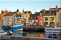 SY6778 : Weymouth: Quaint Shops by the Harbour by Mr Eugene Birchall