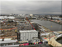SJ8097 : ITV Studios Construction Site, Trafford Wharf by David Dixon