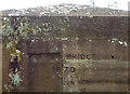 NY6423 : Defaced date stone on Bolton Bridge by Karl and Ali