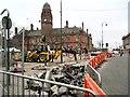 SJ9494 : Clarendon Street & Market Entrance by Gerald England
