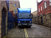SE0925 : Delivering laundry to the Imperial Crown Hotel, Halifax by Phil Champion