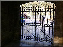 SD9926 : Gates at Hebden Bridge railway station by Phil Champion
