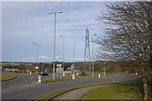 NJ8813 : A947 Roundabout, Dyce by Bill Harrison