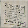 NZ2564 : Commemorative sign on the Keelmen's Hospital by Keith Edkins