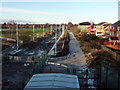 SJ8293 : Current end of the Metrolink line near Mauldeth Road West by Phil Champion