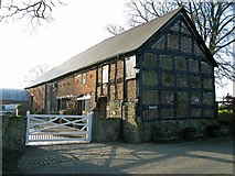 SJ3335 : The Timber framed barn at Plas Wiggin from a different angle by Linnet