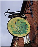 SO8690 : The Green Man (2) - sign, High Street, Swindon, Staffs by P L Chadwick
