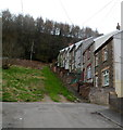 ST2091 : Houses up a hillside, George Street, Wattsville by Jaggery