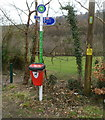ST2091 : Sirhowy Valley Country Park signpost, Wattsville by Jaggery