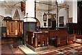 TQ3579 : St Mary with All Saints, Rotherhithe - Stalls by John Salmon