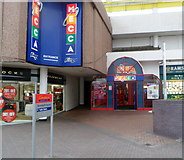 ST2995 : Entrance to Mecca Bingo, Cwmbran by Jaggery