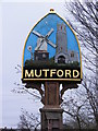 TM4888 : Mutford Village sign by Adrian Cable
