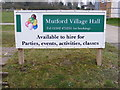 TM4888 : Mutford Village Hall sign by Adrian Cable