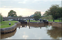 SJ7758 : Hassall Green Locks No 58, Cheshire by Roger  Kidd