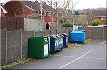 SO8690 : Recycling point, High Street, Swindon, Staffs by P L Chadwick