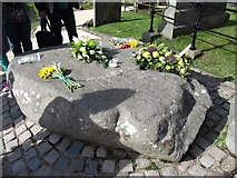 J4844 : St Patrick's Grave at Downpatrick's Cathedral by Eric Jones